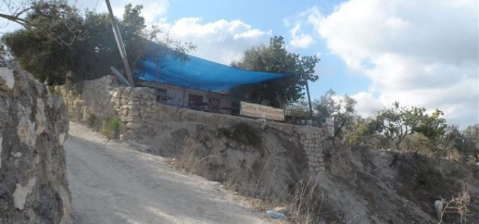 Stop-construction order for a tourist restaurant in Sabastiya