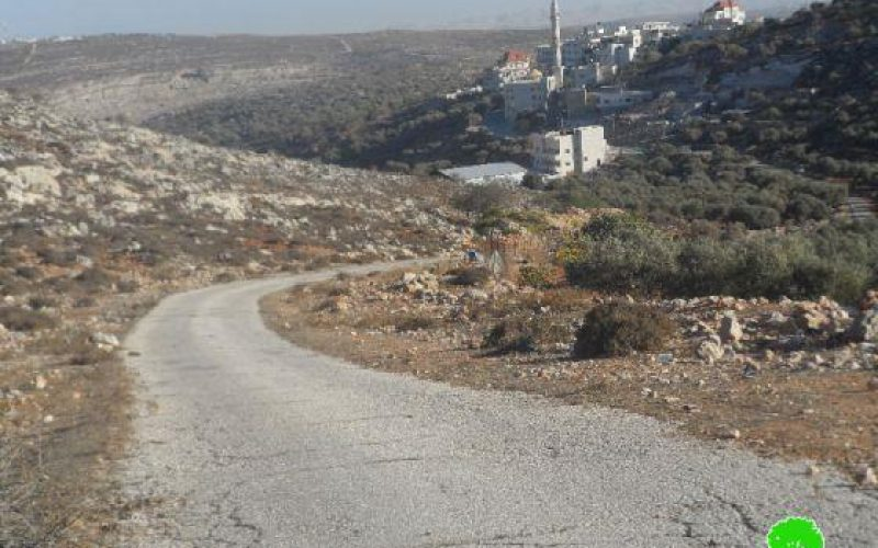 إغلاق مدخل قرية برقة / محافظة رام الله