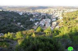 """إخطار """" 21″  منشأة سكنية و زراعية بوقف البناء في قرية برطعة"""