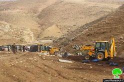 Demolishing six barns for sheep husbandry in Tubas