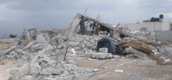 Demolishing a residence in Jericho