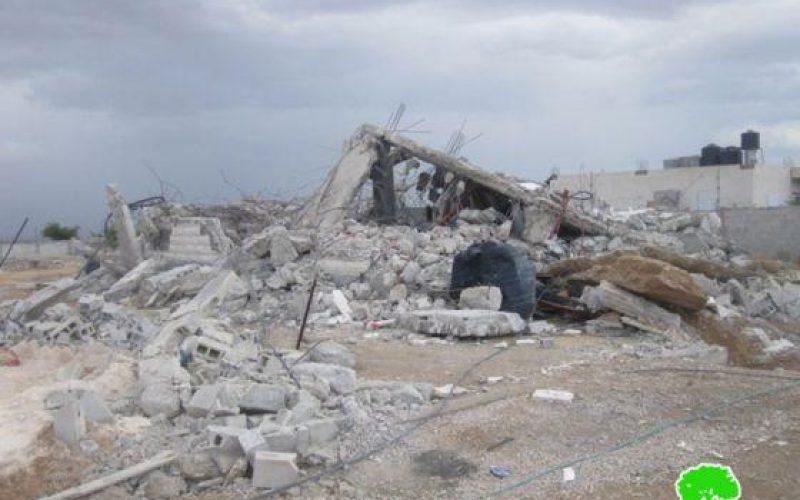 هدم منزل في محافظة أريحا