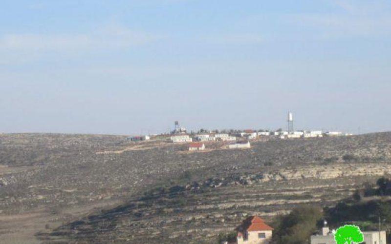 الاحتلال الاسرائيلي يخطر بوضع اليد على أراضٍ في قرية قصرة /محافظة نابلس