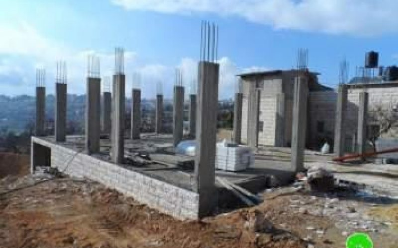 Stop Work  Orders on Eight Houses in Beit Ummar, Hebron governorate