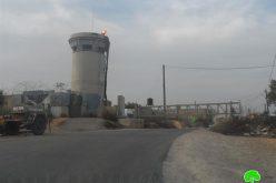 الاحتلال الإسرائيلي يغلق مدخل بلدة كفل حارس الجنوبي