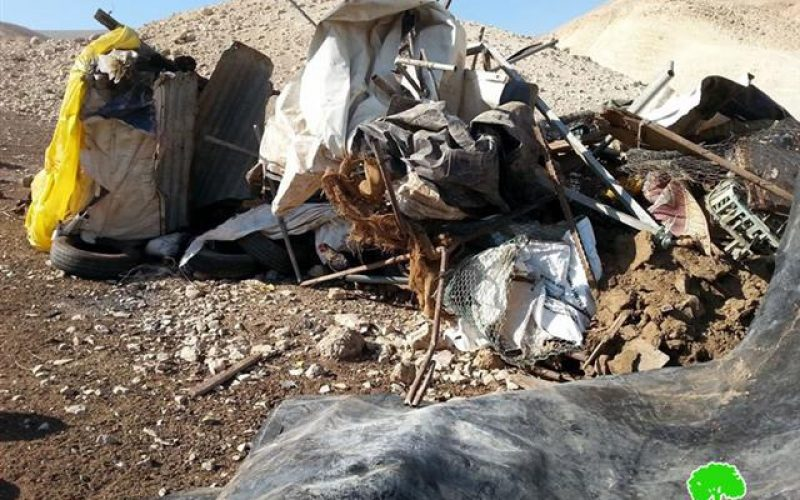Razing a barn in Al 'Auja