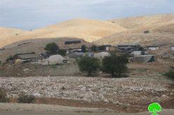 إخطار خمس عائلات بدوية بوقف البناء والرحيل