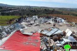 The occupation demolished a commercial structure in Hebron