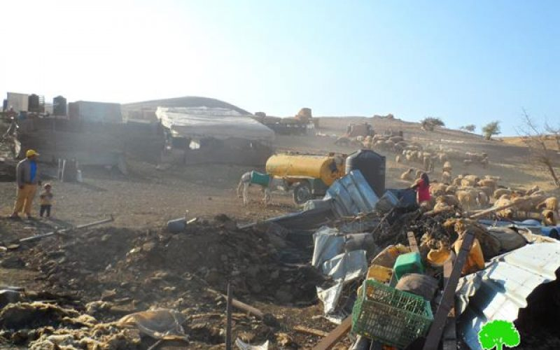 A large-scale demolition operation in the Jordan Valley