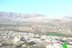 """إخطار مواطنٍ من خربة """" يرزا """"  باقتلاع 1000 غرسة زيتون من أرضه"""