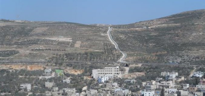 A confiscation order on a 4-dunum piece of land in Madama and Tell villages