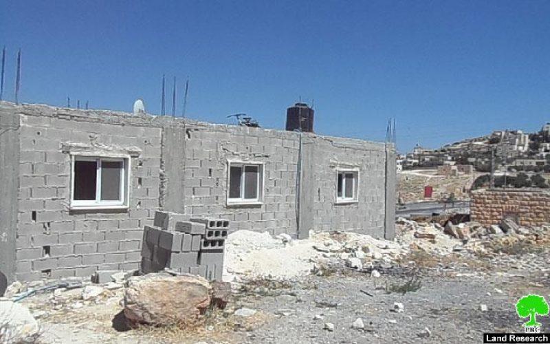 إخطار مسكن في قرية الفرديس / محافظة بيت لحم