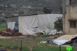 Serving families stop-work orders in Nablus