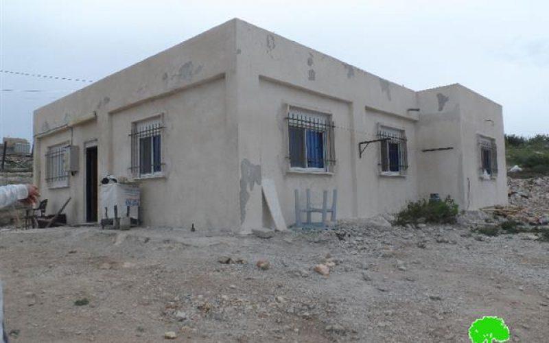 إخطار مسكن في قرية بتير / محافظة بيت لحم