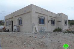 Stop-work  order on a residence in Battir  village