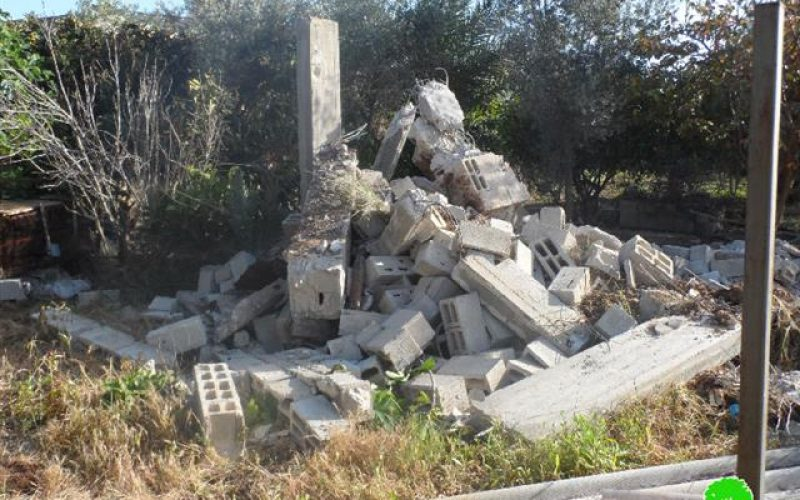 A residential room leveled in Shuwaika
