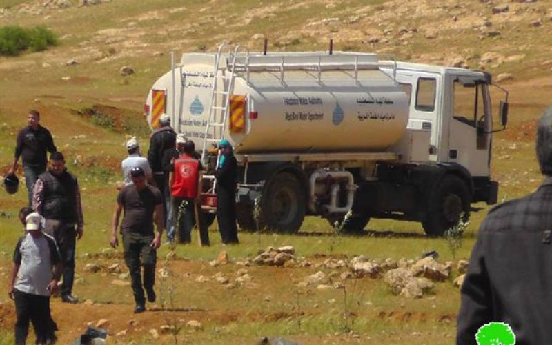 مصادرة صهريج نقل المياه الوحيد في منطقة واد المالح / الأغوار الشمالية