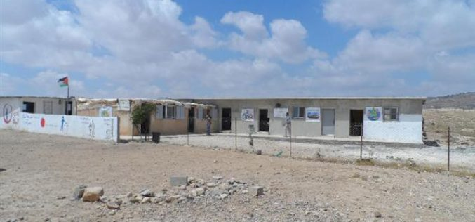 A school raided in Massafer Yatta – Hebron Governorate