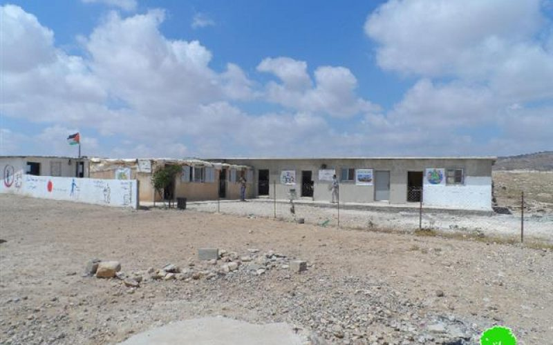 A school raided in Massafer Yatta – Hebron Governorate