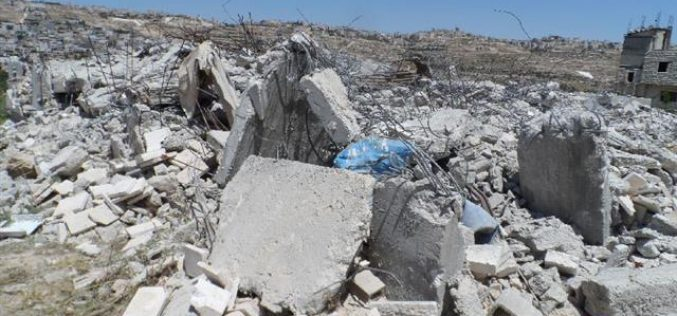 Two residences were torn down in al Arroub