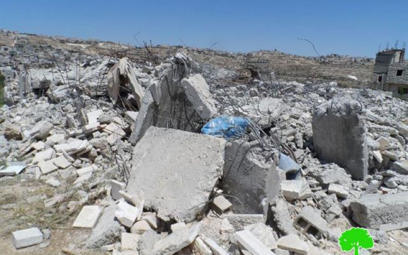 Two residences were torn down in al Arroub