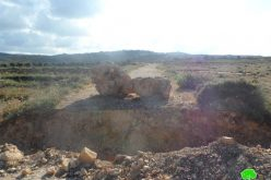 إغلاق المدخل الشمالي لقرية جوريش بالصخور والحجارة