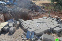 الاحتلال يستهدف خربة الطويل بالهدم للمرة الثانية خلال اقل من أسبوعين في محافظة نابلس