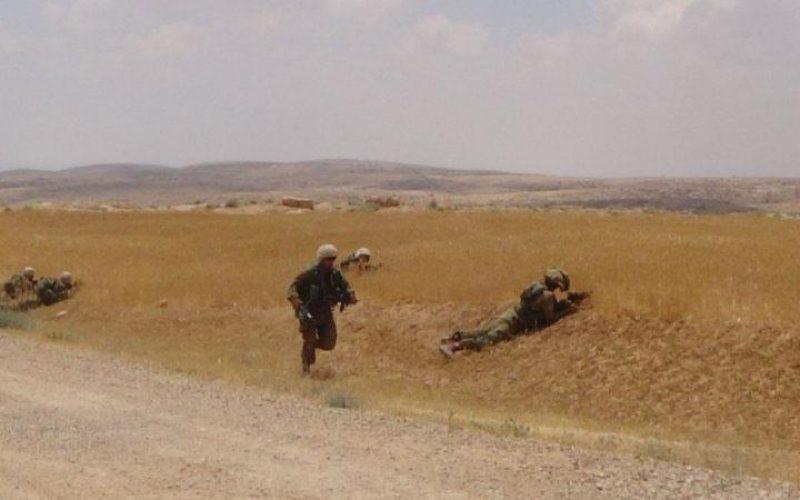 مداهمة مدرسة جنبة وتخرب مزروعات المواطنين في مسافر يطا