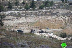 إخطار بإخلاء قطعة ارض في فرش الهوى شمال الخليل