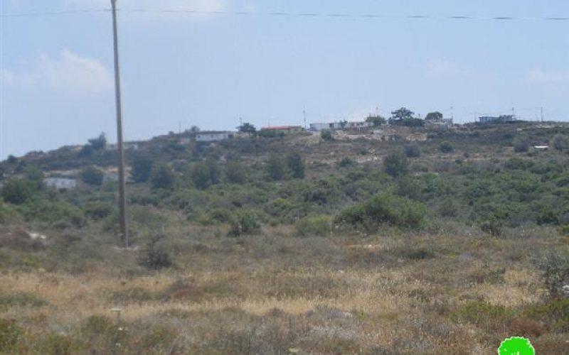 """أعمال توسعة تشهدها  البؤرة الاستعمارية """"  نافيه مناحيم """" على أراض قرية جينصافوط"""