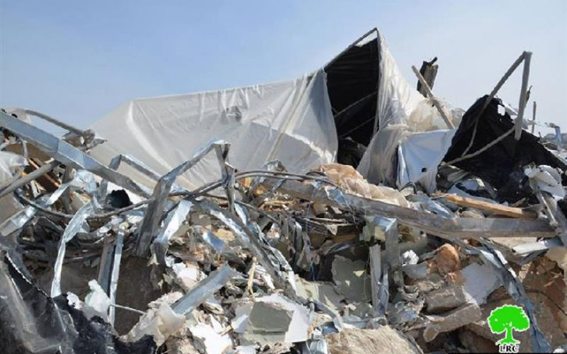 The Israeli Occupation Demolishes a Farm in Ras Atiya village – Qalqiliya Governorate