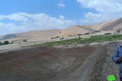 لجنة التنظيم والبناء الإسرائيلية تخطر بوقف العمل في بناء بركة مائية في قرية الجفتلك