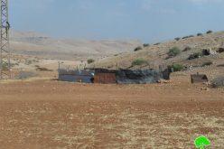 إخطار أربع عائلات من تجمع عرب السلامين  بوقف البناء