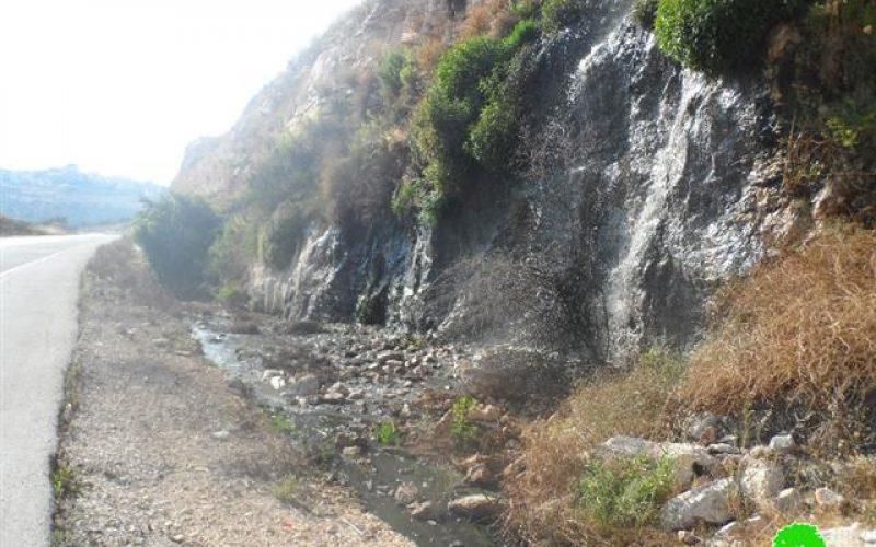 """مستعمرة """" كريات نتافيم """" غرب سلفيت مصدر لتدمير البيئة الفلسطينية"""