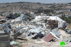 الاحتلال الإسرائيلي يهدم مسكنين وبئراً للمياه  في بلدة الخضر / محافظة بيت لحم
