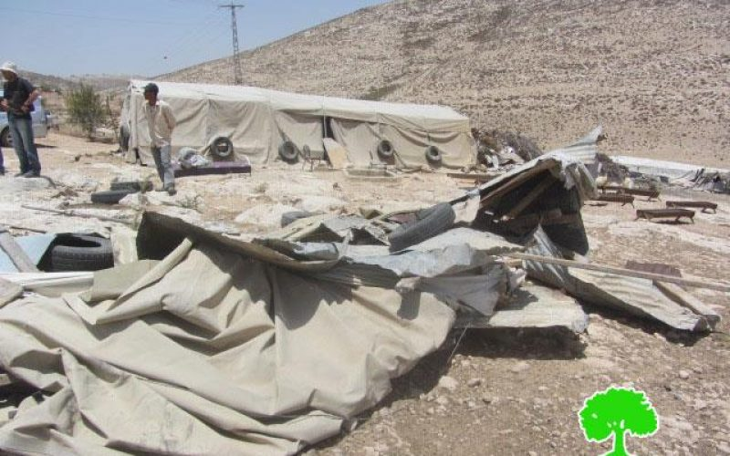 Demolition of a Fodder Warehouse in Khirbet ar-Rahwa, ad- Dhahiriya/Hebron governorate