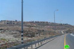 """كاميرا مركز أبحاث الأراضي ترصد أعمال توسعة تشهدها مستعمرة """" نيلي """" شمال غرب  مدينة رام الله"""