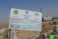 الاحتلال يجرف طريق معبد بطول (800م) شرق بلدة يطا / محافظة الخليل