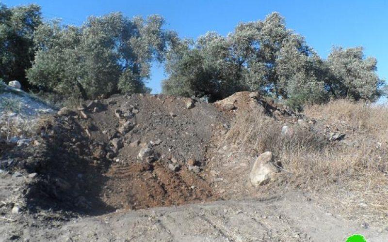 الاحتلال الإسرائيلي يعزز إغلاق الطرق الزراعية في بلدة يعبد