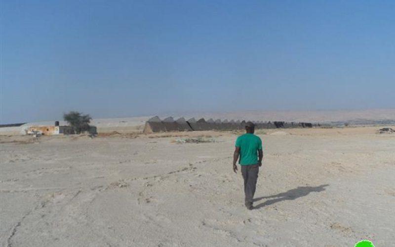 Stop-work Order on a rainwater harvesting pond in al-Auja