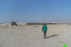 """الاحتلال يصدر إخطار بوقف العمل في """" بركة للمياه""""  في منطقة الصعايدة شرق العوجا"""