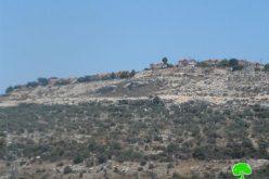 """مخطط لتوسعة مستعمرة """" بروخين"""" على أراضي قرى غرب سلفيت"""