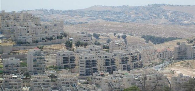 The Ever-expanding Har Homa settlement blocks the expansion of the Palestinian contiguity in Bethlehem area