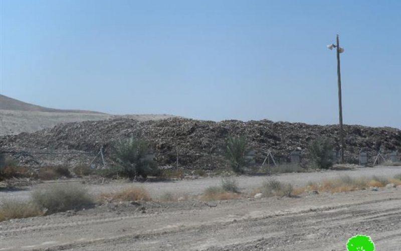 مكبات النفايات الإسرائيلية في الأغوار وسيلة لتدمير البيئة الفلسطينية