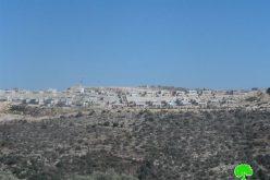 كاميرا مركز أبحاث الأراضي ترصد أعمال البناء لإنشاء مستعمرة جديدة غرب بلدة كفر الديك