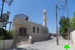 """الاحتلال الإسرائيلي يقرر هدم مسجد """" الهادي محمد"""" في مخيم الجلزون"""