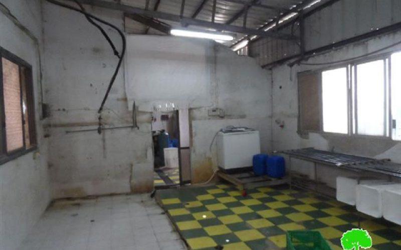 الاحتلال يصادر معدات الانتاج من مصنع البان الريان في الخليل