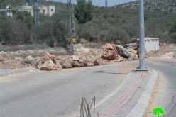 Enforcing Blockade of Deir Istiya Entrance – Salfit Governorate