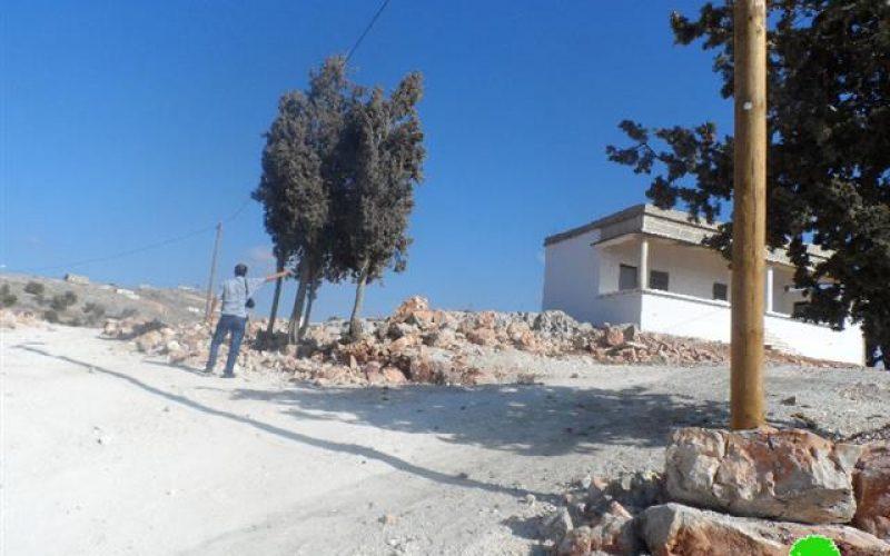 منع  أهالي قرية بورين من استغلال منزل يقع ضمن المنطقة B