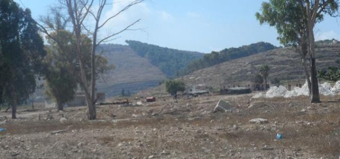 The occupation bans the residents of Arraba from using their lands; an evicted military camp